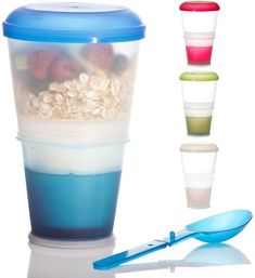 müslibecher to go Tupperware, Lunchbox Kind, Dark Home Decor, Thing 1, Quick Snacks, Muesli, Cereal Bowls, Good Grips, Kitchens