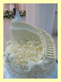 wedding cakes cakes elegant cakes rustic cakes simple cakes unique cakes with flowers Extreme Wedding Cakes, Extravagant Wedding Cakes, Elegant Wedding Cakes, Beautiful Wedding Cakes, Wedding Cake Designs, Beautiful Cakes, Amazing Cakes, Wedding Ideas, Elegant Cakes