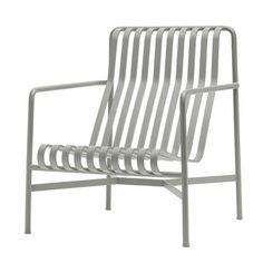 Hay's Palissade lounge chair, high, light grey