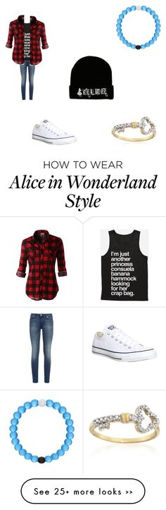 """""""Untitled #62"""" by bobby-ann on Polyvore featuring 7 For All Mankind, Converse, Disney and LE3NO"""