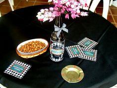 As mesas da festa