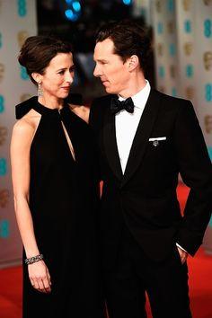 Benedict Cumberbatch and Sophie Hunter at the BAFTA 2015