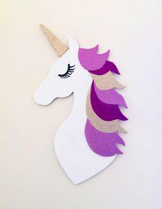 Items similar to Wooden unicorn picture, unicorn head on Etsy Unicorn Wall Art, Unicorn Painting, Unicorn Head, Painting For Kids, Art For Kids, Crafts For Kids, Diy Arts And Crafts, Wood Crafts, Pinting Ideas