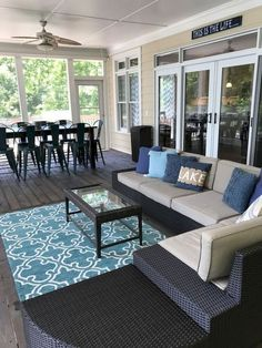 Amazing sunroom ideas on a budget. Learn how to build and decorate an affordable small sun porch design ideas or screened in porch / patio decor. House Plans, Porch Furniture, Home, Outdoor Living Room, House With Porch, New Homes, House, Porch Decorating, Porch Design