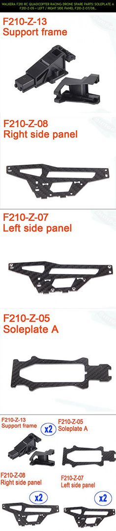 Walkera F210 RC Quadcopter Racing Drone Spare Parts: Soleplate A F210-Z-05 + Left / Right Side Panel F210-Z-07/08 + Support Frame F210-Z-13 #products #drone #camera #racing #parts #f210 #fpv #parts #plans #shopping #tech #walkera #gadgets #technology #kit