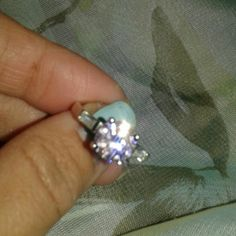 Light pink ice Cz ring Size 7.5, 925 stamped silver. Nice ring,  new in gift box. Jewelry Rings