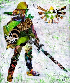 Zelda poster Zelda print Link art Legend of Zelda by ArtPopTart