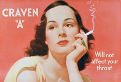 Vintage tobacco advertising: how cigarette adverts have changed over the years.
