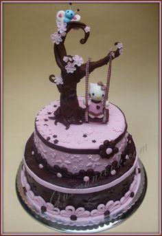 hello kitty birthday cake ideas on pinterest hello kitty cake hell. Black Bedroom Furniture Sets. Home Design Ideas