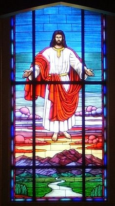 Stained Glass Windows at Fletcher Seventh Day Adventist Church in Hendersonville, NC