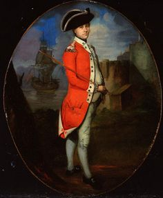"""""""Unidentified Officer, Militia, 1775"""" by an unknown artist (1775) at the National Army Museum, London - From the curators' comments: """"During the 18th century militia units were responsible for home defence and maintaining law and order in vulnerable locations such as Ireland and the south coast of England. Militia units did not have to serve overseas, but they were seen as a useful reserve of trained men."""""""