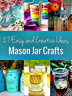 Mason Jar Crafts: A List of 27 Easy and Creative Ideas (some Great projects)