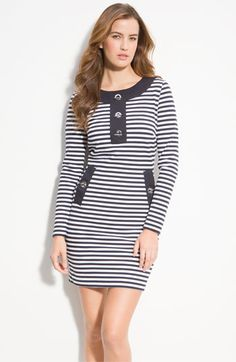 MICHAEL Michael Kors Stripe Toggle Dress