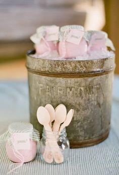 ice cream jars.. too cute!!