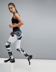 ac5ff523d8e7 Puma - Everyday Train Element Tight In Black And White -  87.00 Famous  Brands