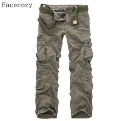 5311a6d0f89d Facecozy Men Winter Tactical Military Sports Hiking Pants Male Outdoor  Multi-pockets Windproof Camping Trekking Cargo Trousers