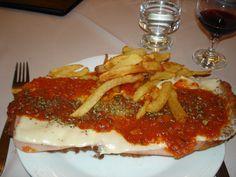 Argentina best meal - Milanesa Napolitana con fritas