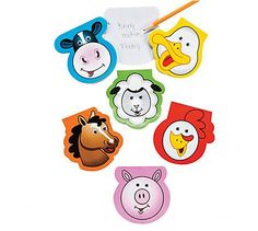Farm Character Wiggle Eye Notepads Farm animal lovers will adore these note pads! Includes 30 blank sheets per pad. price is per 11 notepads Wiggles Birthday, Wiggles Party, Farm Birthday, Barnyard Party, Farm Party, Party Kit, Party Shop, Party Bag Toys, Lolly Bags