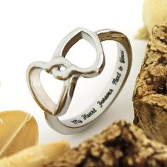 "This #Love Ring looks very nice. There are the engravings that make this comfort fit ring so special: the inscription ""My Heart Forever Next to Yours"" is engraved inside of it.  #couples #rings"