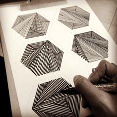 #polygons #sketch #sharpie #geometric #pattern #turleza