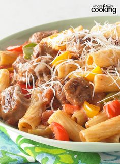 Sausage with Peppers and Pasta #recipe