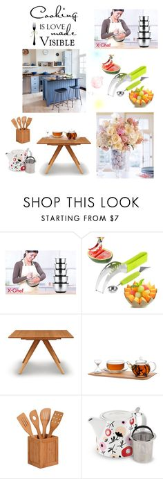 Love Kitchen by ioakleaf on Polyvore featuring interior, interiors, interior design, home, home decor, interior decorating, Copeland Furniture, Honey-Can-Do and kitchen