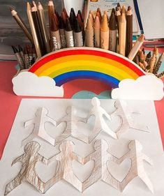 Rainbows and People Colors®—what more could you want? We LOVE that @the_diy_mom has stocked our Color Me Creative! Supply Caddy with People Colors® Crayons and Colored Pencils and used them to make beautiful artwork. Grab your own caddy now at a special discounted price during our Back to School Sale. Space Crafts, Arts And Crafts, Back To School Essentials, Color Crayons, Back To School Sales, New School Year, Wood Construction, Beautiful Artwork, Rainbows