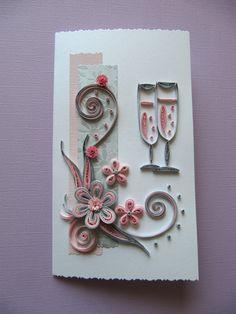 Wedding - Anniversary - Birthday - Handmade Greeting Card - Paper Quilling