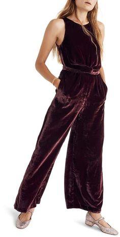 Madewell Twist Front Velvet Jumpsuit Dressy Jumpsuit Wedding 4a1e32d95
