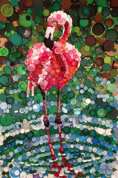 Beauty from Toxicity Opens June 19 in the Cameron Gallery – The Scrap Exchange Bottle Top Art, Bottle Top Crafts, Bottle Cap Projects, Bottle Caps, Plastic Bottle Tops, Plastic Bottle Crafts, Plastic Art, Recycled Art Projects, Recycled Crafts