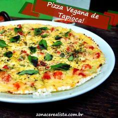 Pizza vegana de tapioca