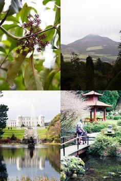 A glimpse of Ireland and chocolate petits pots de crème. Powerscourt, Co. Ireland With Kids, Ireland Travel, Dublin, Pots, Golf Courses, Gardens, River, Chocolate, Places