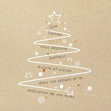 Sapin déco. Carte de voeux originale au mélange de blanc sur fond craft avec ses petits touches ambiance déco de Noel... souhaitez une nouvelle en beauté !