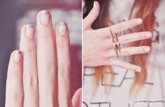 #manicure #nails #ngnails #blog #french #manicure #silver #glitter #nail #polish