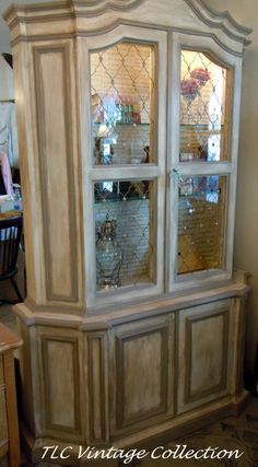 Furniture Refinishing Painted Sherwood Forest Annie Sloan Iowa China Cabinet