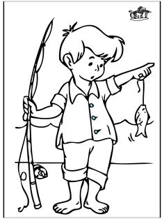 happy girl fishing summer coloring pages coloring page