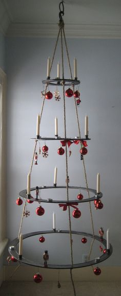 Hanging Metal Christmas Tree