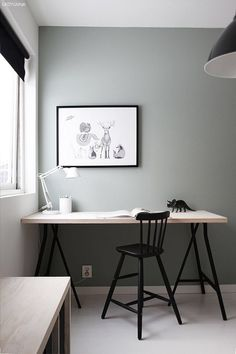 Working from home is an awesome perk, but have you ever accidentally created a workspace as drab as a cubicle? Here's the way to make the greatest home office at 7 simple (and cheap) steps. Home Office Inspiration, Workspace Inspiration, Interior Inspiration, Design Inspiration, Design Ideas, Home Office Design, Home Office Decor, Office Wall Colors, My New Room