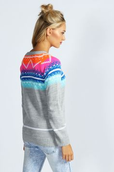 Amelie Digital Yoke Jumper