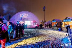 New 60' event dome at the Brrrr Fest.