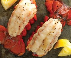I'm checking out a delicious recipe for Grilled Lobster with Herb Butter from Fry's Food Stores! Fish Recipes, Seafood Recipes, Healthy Recipes, Healthy Foods, Seafood Dishes, Fish And Seafood, Grilled Lobster Recipes, Herb Butter, Butter Recipe