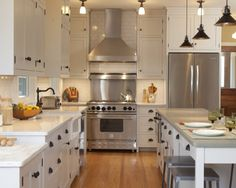White Cabinetry with Bronze/Black Hardware