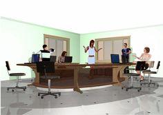 Móveis para escritórios _ mesa em mdf para reuniões