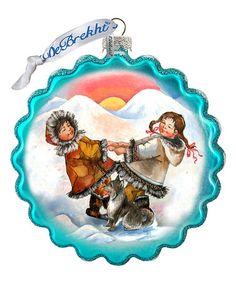 Eskimo Christmas Ornament #zulily #zulilyfinds