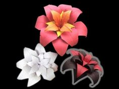 Origami bouquet. Easy origami flower. Ideas for Christmas decoration - YouTube