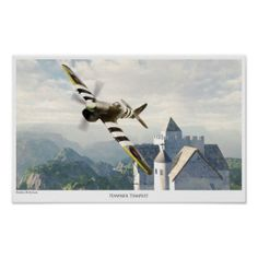 "Aviation Art Poster ""HAWKER TEMPEST """