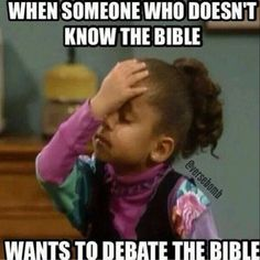 Yessss! Understanding comes from reading! You have to know the word to debate the word!   Proverbs 2:6  For the lord give wisdom,and from his mouth come knowledge and understanding.