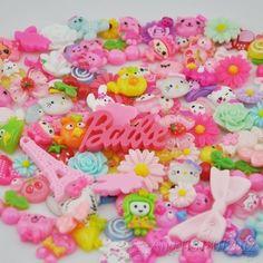 50 x Lots mix Assort Easter DIY Flat Back Resin Buttons Scrapbooking Craft F03 #100NewBrand