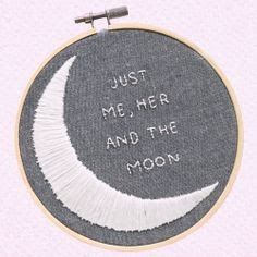 When I look in your eyes I go soft inside And the sound of your voice Sends shivers up my spine And at the slightest touch We're in love You, me and the moon Alphabet Tag, Talking To The Moon, Blue Sargent, Girls In Love, Couture, Romantic, Embroidery, Stars, Words