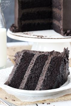 Dark Chocolate Cake!  Dark cocoa and buttermilk highlight this recipe....yup, I'd add some instant espresso or coffee.  Or both.